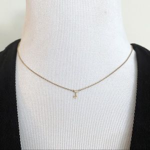 Jewelry - 🎉5/20 SALE🎉 gold tone rhinestone tiny J necklace